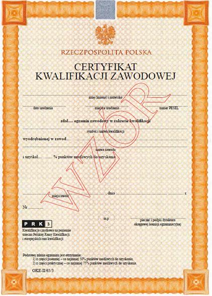 certyfikat kwalifikacji zawodowej